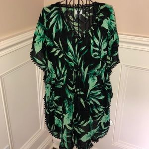 Old Navy Palm Leaves Patterned Beach Cover Up
